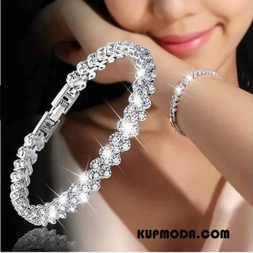 Srebrna Biżuteria Damskie Damska Luksusowy Europa Moda Akcesoria Bransoletki