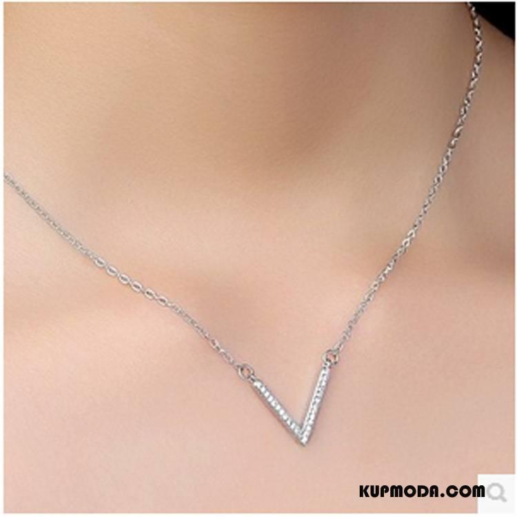 Srebrna Biżuteria Damskie Damska Wielki Pure Alfabet Akcesoria Srebrny