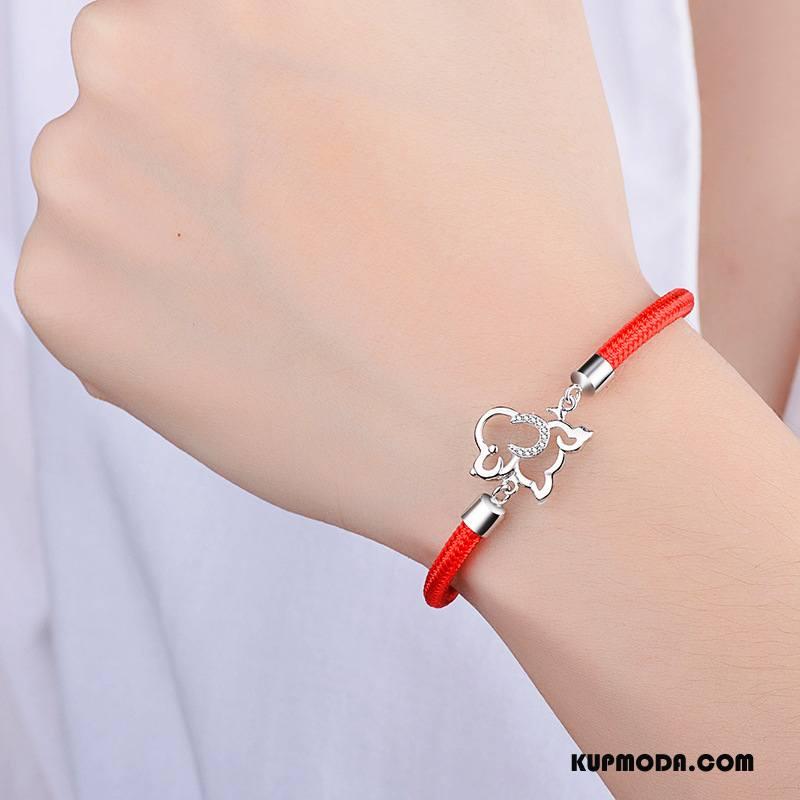 Srebrna Biżuteria Damskie Etniczny Damska Bransoletki Pure Akcesoria Srebrny Czerwony