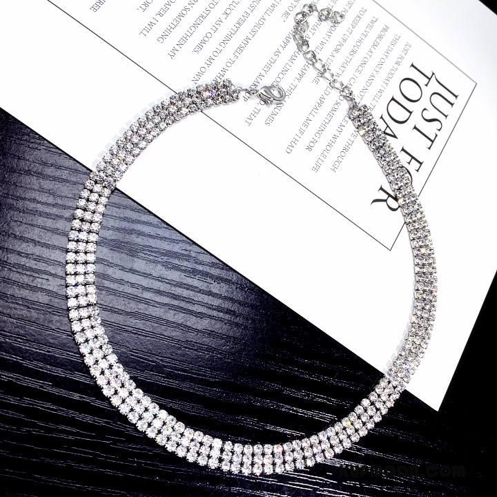 Srebrna Biżuteria Damskie Europa Moda Krótki Osobowość Damska Wszystko Pasuje Srebrny