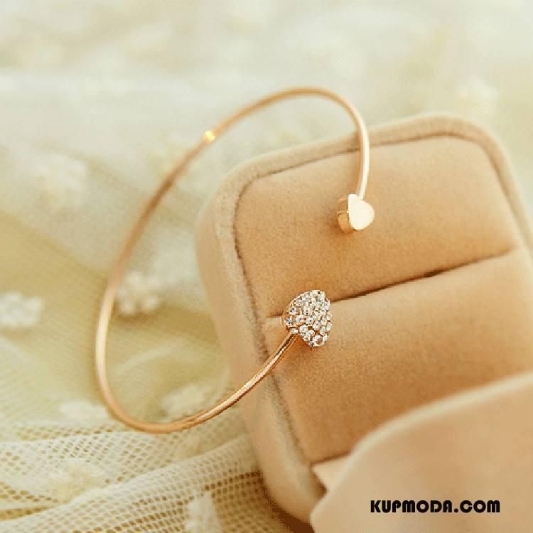 Srebrna Biżuteria Damskie Miłość Damska Serce Akcesoria W Kształcie Serca Bransoletki Brzoskwiniowy Złoty