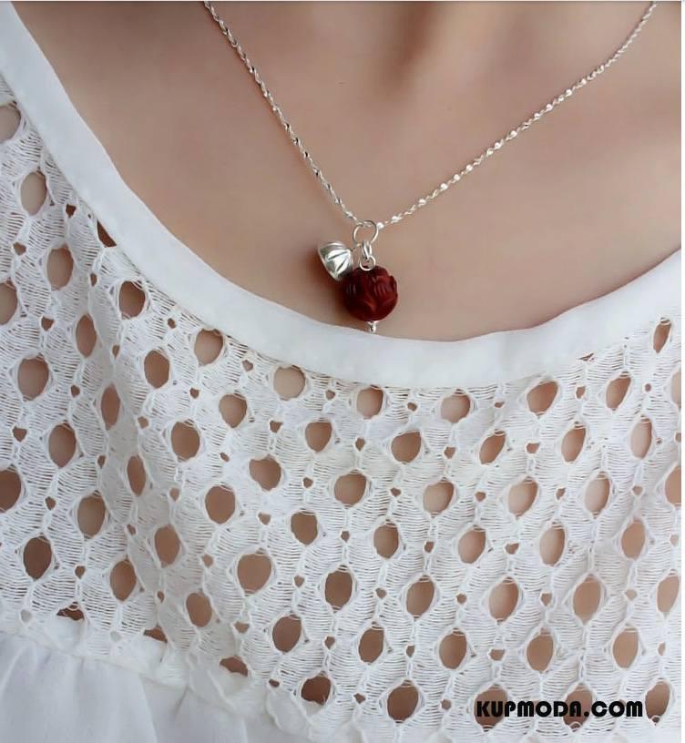 Srebrna Biżuteria Damskie Nowy Damska Wisiorek Akcesoria Mały Dobrze Srebrny Fioletowy