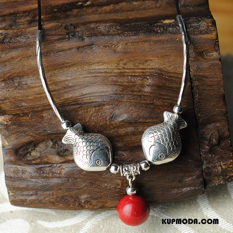 Srebrna Biżuteria Damskie Oryginalny Etniczny Krótki Etniczne Damska Akcesoria Srebrny