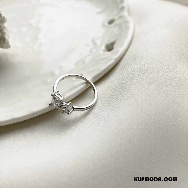 Srebrna Biżuteria Damskie Pure Perła Akcesoria Kwadratowy Prosty Srebrny