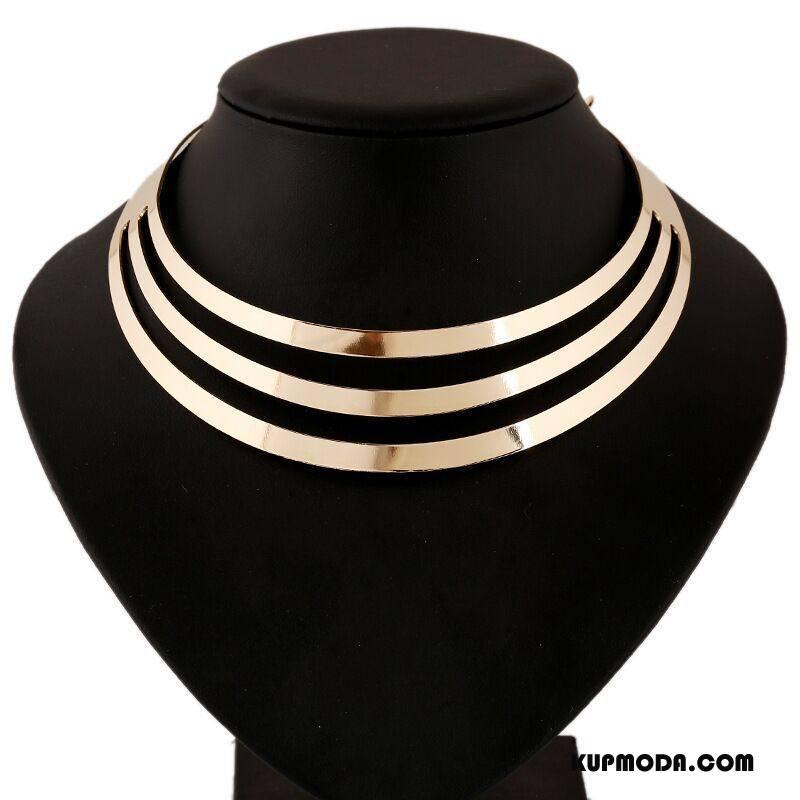 Srebrna Biżuteria Damskie Trzy Warstwy Vintage Krótki Klasyczny Lato Europa Złoty