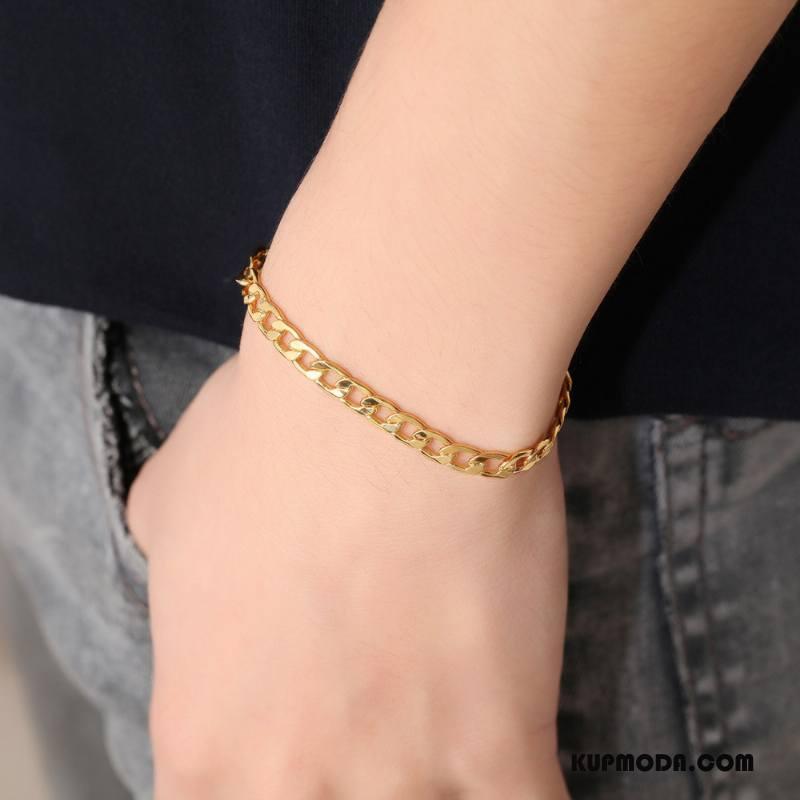 Srebrna Biżuteria Męskie Bransoletki Europa Pure Męska Złoty Srebrny Żółty