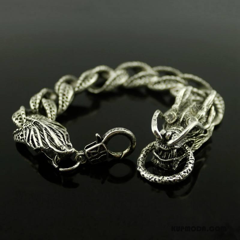 Srebrna Biżuteria Męskie Bransoletki Moda Zakochani Damska Twórczy Męska Srebrny
