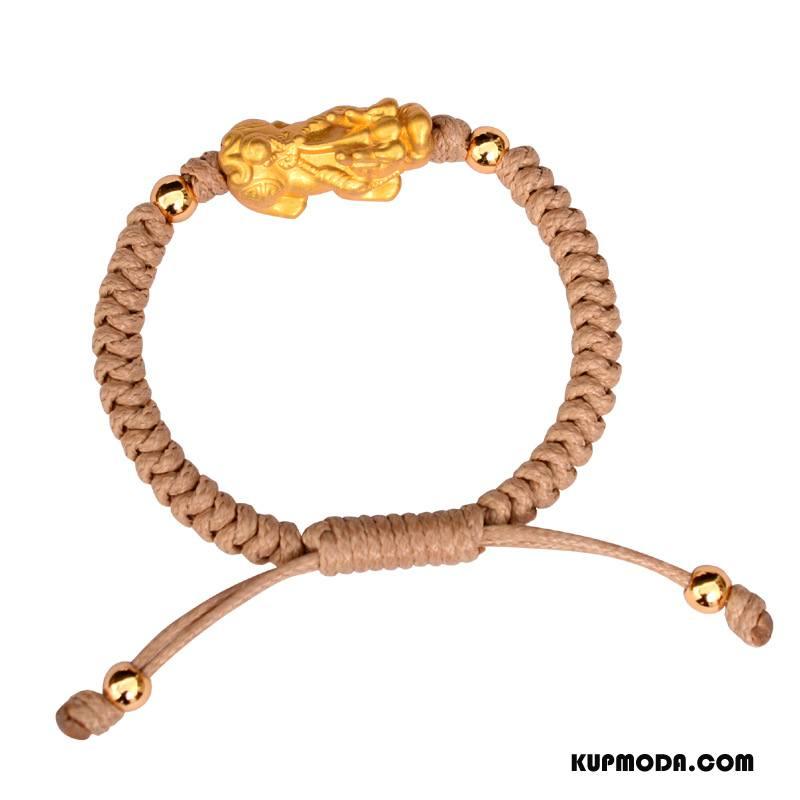 Srebrna Biżuteria Męskie Bransoletki Ręcznie Robione Trendy Nowy Przeplatane Męska Złoty Srebrny