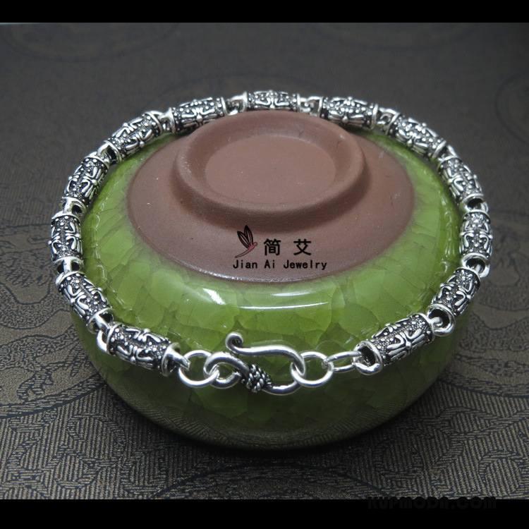 Srebrna Biżuteria Męskie Damska Akcesoria Zakochani Pure Bransoletki Vintage Srebrny