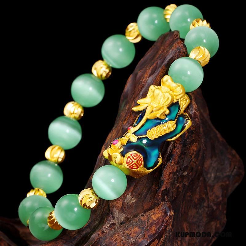 Srebrna Biżuteria Męskie Damska Kolorowe Męska Zakochani Bransoletki Złoty Zielony