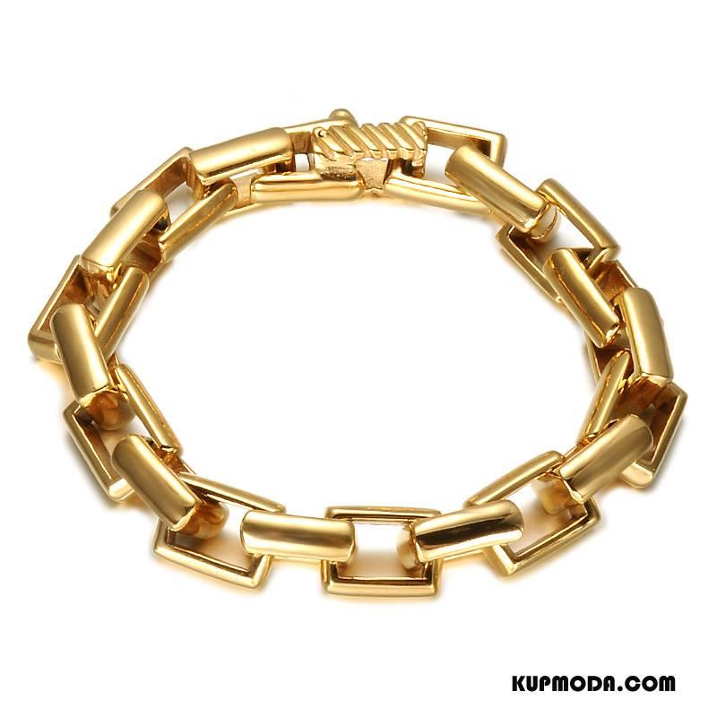 Srebrna Biżuteria Męskie Męska Bransoletki Trendy Europa Złoty