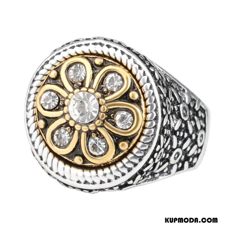 Srebrna Biżuteria Męskie Męska Europa Vintage Rhinestone Akcesoria Szlachetny Srebrny