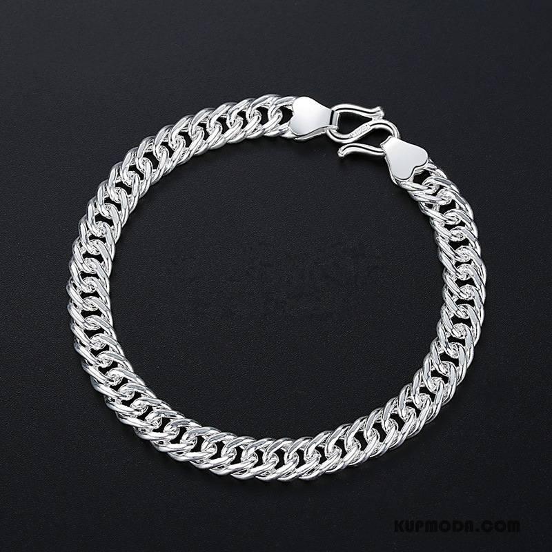 Srebrna Biżuteria Męskie Osobowość Akcesoria Męska Moda Ręcznie Robione Bransoletki Srebrny