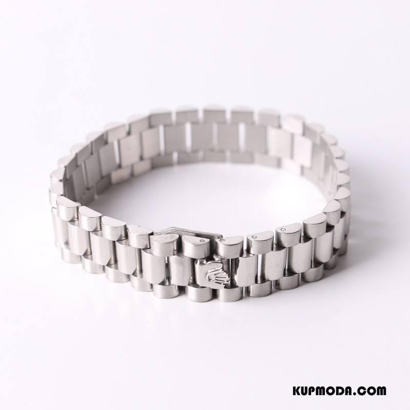 Srebrna Biżuteria Męskie Serce Zegarek Na Rękę Europa Męska Szyk Gorący Srebrny