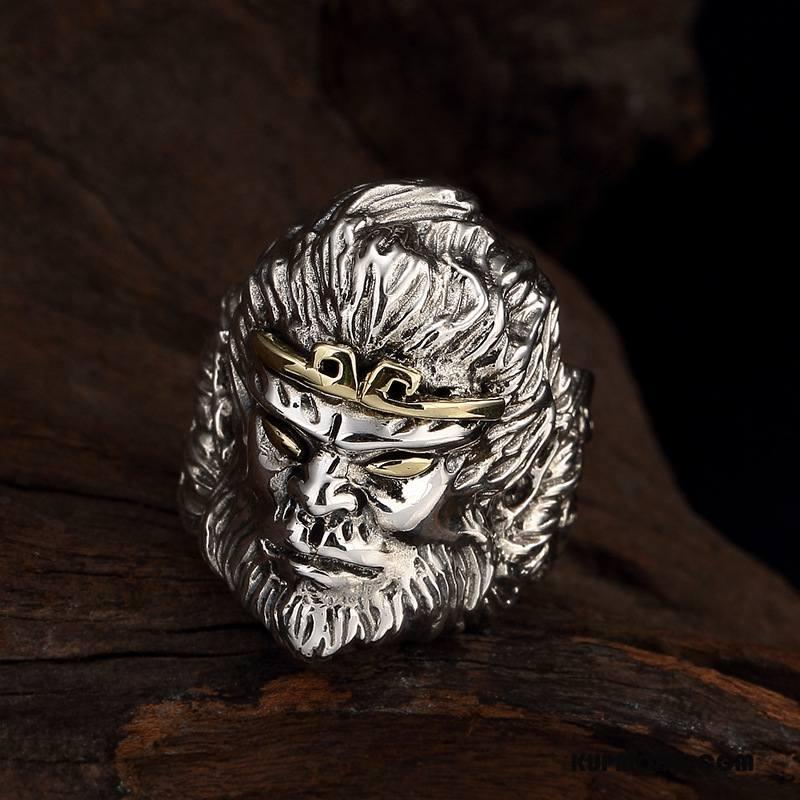 Srebrna Biżuteria Męskie Wielki Męska Pure Vintage Osobowość Srebrny