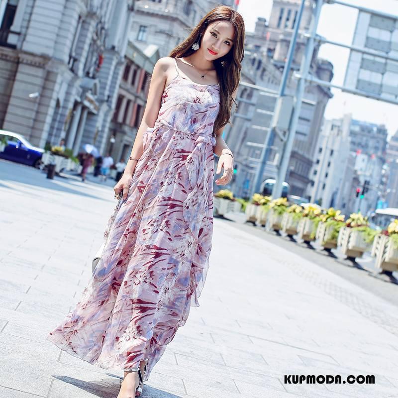 27582e493a Sukienka Damskie Tendencja Drukowana Moda Eleganckie 2018 Lato Czerwony