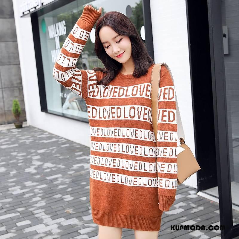 Swetry Damskie Tendencja Długi Rękaw Pullover Kardigan Z Dzianiny Jesień Sweter Karmel
