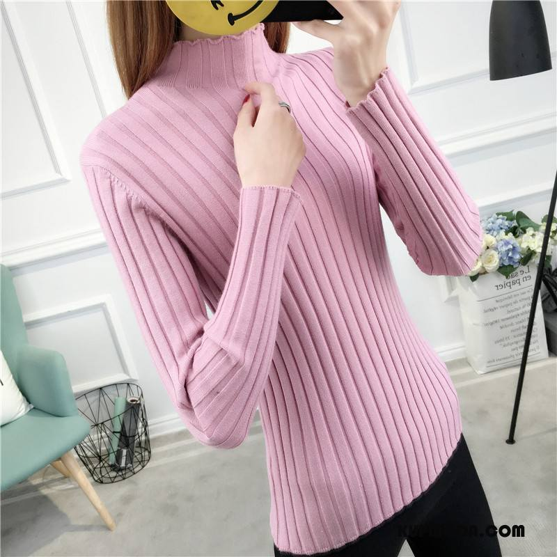 Swetry Damskie Zima Moda Eleganckie Kardigan Z Dzianiny Długie Sweter Czysta Różowy