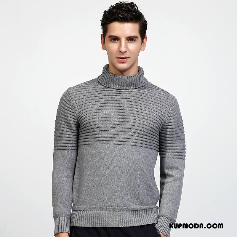 Swetry Męskie Sweter 2018 Nowy Szary
