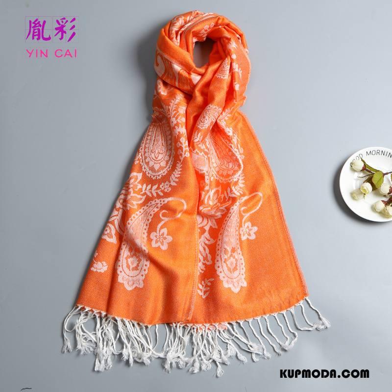 Szalik Damskie Ochrona Przed Słońcem Akcesoria Z Bawełny Damska Moda Cienkie Oranż