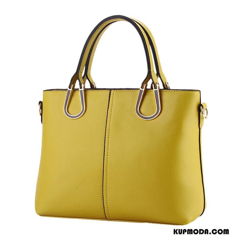 Torebki Damskie Nowy Trendy Damska Moda Wysoki Koniec Skóra Czysta Złoty Żółty
