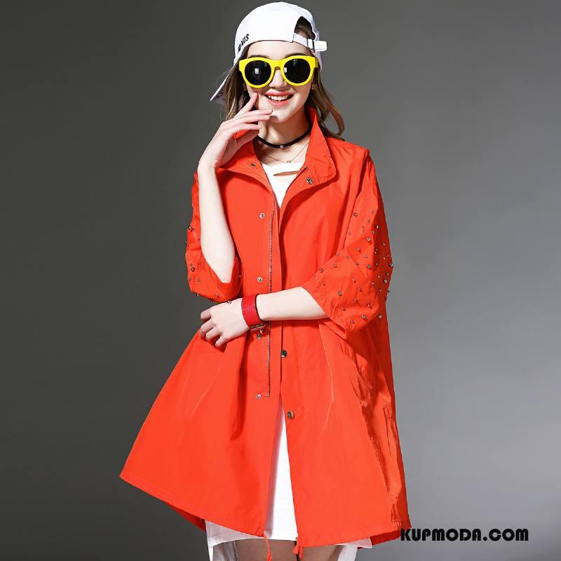 Ubrania Uv Damskie Nowy Długie 2018 Sun Odzież Ochrona Tendencja Cienkie Czysta Oranż